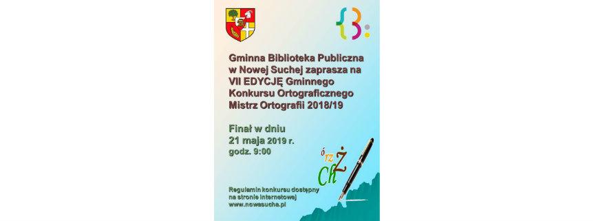 Konkurs Ortograficzny MISTRZ ORTOGRAFII 2018/2019